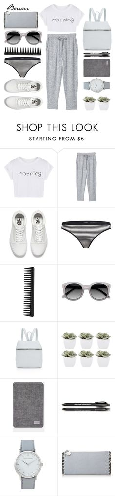 """Morning"" by bianca1408 ❤ liked on Polyvore featuring WithChic, MANGO, Vans, Icebreaker, GHD, Ace, Kara, Abigail Ahern, Ted Baker and Paper Mate"
