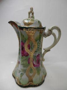 Beautiful Antique Nippon Chocolate Pot  Gilt by AntiquesBoutiqueNS