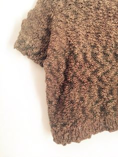 Image of Boxy knit tee in chunky cotton - chocolate brown