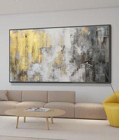 Abstract Oil, Abstract Wall Art, Canvas Wall Art, Gold Wall Art, Gold Art, Modern Art Paintings, Beautiful Paintings, Oversized Wall Art, Original Artwork