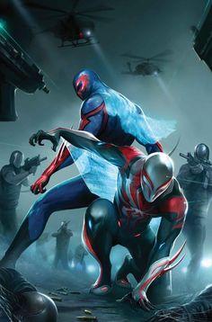 SPIDER-MAN 2099 Vol3 24 (2017) by Francesco MATTINA | The Most Beautiful COVERS of Marvel COMICS