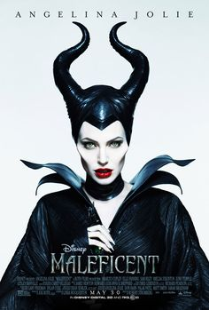 See the new MALEFICENT Disney movie poster of Angelina Jolie! AngelinaJolie film