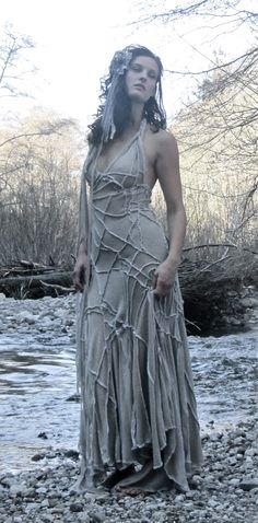 Weeping willow dress by Lily Blue, modeled by Marcia