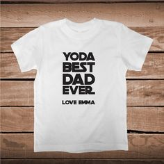 Yoda Best Dad Ever Custom Tee Gift _ Father Star Wars T-Shirts _ Custom Tees for Dad _ Dads Birthday T-shirt Gift _ Prime Decals
