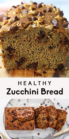 The best healthy zucchini bread made with whole wheat flour, coconut oil and naturally sweetened with honey instead of sugar. This easy, healthy zucchini bread recipe is bursting with flavor thanks to the hint of coconut, orange zest and toasted nuts. Great for breakfast and can easily be made into healthy zucchini muffins! #zucchinibread #zucchinirecipe #quickbread #healthysnack #healthybreakfast #dairyfree #coconut Healthy Zucchini, Healthy Cake, Healthy Baking, Sweet Potato Recipes Healthy, Healthy Recipe Videos, Healthy Recipes, Sweets Recipes, Brunch Recipes, Snack Recipes