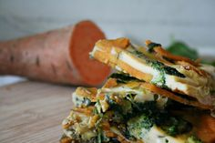 get some coconuts: sweet potato frittata