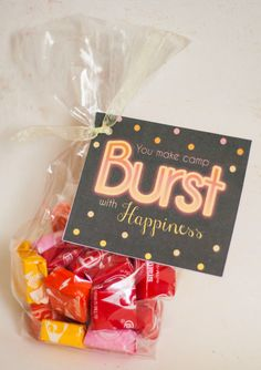 "Girls Camp ""Pillow Treat"" Handout - Starburst Instant Download / YW Camp 4X6 & 5X7 added!"