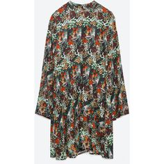 Zara Floral Print Dress ( 50) ❤ liked on Polyvore featuring dresses b049134476b