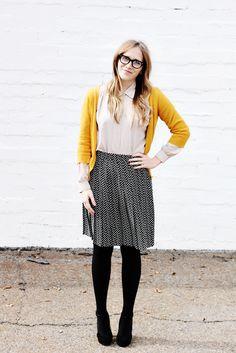 cute look for school! dare i say nerd-chic?