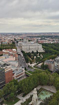 Madrid, Palacio Real, Paseo de Oriente, Plaza de España by Ana de Santos https://es.pinterest.com/Anidsd/