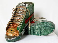 Designer Artist Sneakers using - | objects such as typewriters, computers, and other machines, artist ...