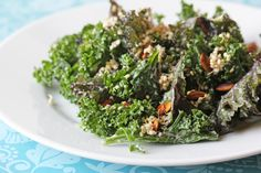 For the Love of Food: Raw Kale Salad with Sprouted Quinoa and Pumpkin Seeds