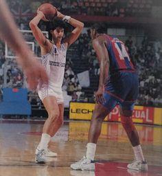 Real Madrid vs FCB, 89/90. José Ortiz, Audie Norris.