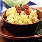 Tortilla Scramble with Salsa - A scrambled egg dish for a crowd or breakfast for the family. Farm-fresh eggs, broken tortilla chips and shredded cheese all work together in this robust dish good for serving any time of the day or night.