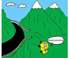 Recalculating - and other travel jokes.