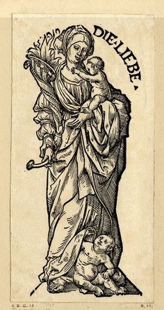 """""""Die Liebe"""", Serie """"Die sieben Tugenden"""", c.1510, Hans Burgkmair der Ältere (1473-1531)"""