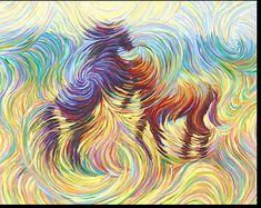 Stallions - Energism art - pioneered by Julia Watkins