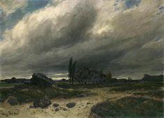 Stormy Landscape by Adolf Stäbli