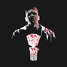 Awesome 'punisher+netflix+%28var+1-bloody%29' design on TeePublic!