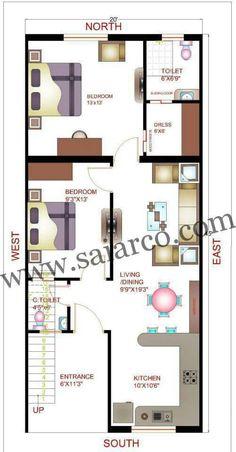 18 x 50 house map 2bhk House Plan, Small House Floor Plans, Model House Plan, Simple House Plans, House Layout Plans, Duplex House Plans, Bungalow House Plans, Dream House Plans, House Layouts