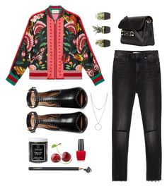 """""""Bomber it is"""" by solespejismo on Polyvore featuring Gucci, Givenchy, Zara, Proenza Schouler, Little Barn Apothecary, Napoleon Perdis, OPI and Botkier"""
