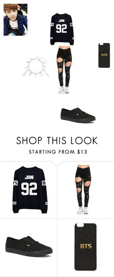 """""""Happy Birthday Jin"""" by shania-dancequeen2k17 on Polyvore featuring Vans"""