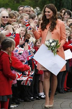 Duchess Kate, blushed as she was given a wedding anniversary present by the children but admitted William wasn't treating her to a special day