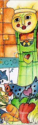 Marcapáginas de cocina Creative Art, Paintings, Cuisine, Creative Artwork, Painting Art, Painting, Painted Canvas, Drawings, Resim