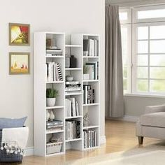 Tribesigns Bookcase Organizer Storage Bookshelf for Home Office Cube Bookcase, Etagere Bookcase, Bookcases, Cubes, Bookcase Organization, Cheap Couch, Furniture Layout, Den Furniture, Furniture Dolly