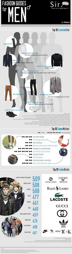 Men's Fashion Tips.  Top 10 Essential Items.===> FOLLOW US ON PINTEREST FOR FASHION TIPS, OUR CURRENT SALES, MEN'S ESSENTIALS ETC...