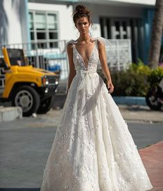ec8efc2e34d1 Bow details New @berta miami collection Find your #bertabridal exclusively  at @primalicia #. Bridal Wedding DressesA Line Bridal ...