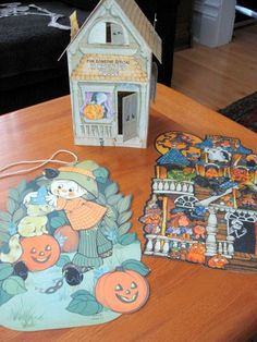 vintage 1970s set of 3 hallmark halloween paper decorations - Hallmark Halloween Decorations