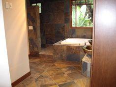 slate tile bathroom | Bathroom Slate Shower and Bathtub Slate Shower and Bathtub, natural ...