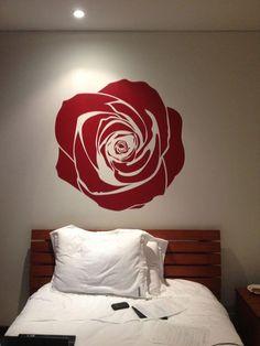 Big ol' painted rose.