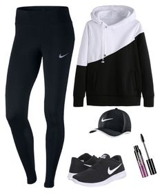 """Nike Running"" by rowan-galloway ❤ liked on Polyvore featuring NIKE and Charlotte Russe"