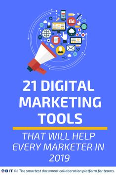 21 Digital Marketing Tools That Will Help Every Marketer In 2019 - learn how to make money online from affiliate marketing Digital Marketing Strategy, Inbound Marketing, Affiliate Marketing, Digital Marketing Business, Digital Marketing Services, Content Marketing, Media Marketing, Facebook Marketing, Marketing Ideas