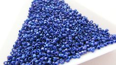 Miyuki Size Delica Beads Matte by ArtyBeadsStore Blueberry, My Etsy Shop, Group, Beads, Fruit, Happy, Beading, The Fruit, Bead