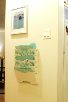 Ikea hack - magazine rack as mail sorter, mail organizer
