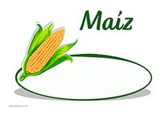 Cartel precio para el maíz. Ideal para tu frutería o verdulería.