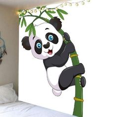entryway wall decor wall decor simple Panda Hugging Bamboo Pattern Wall Hanging Tapestry Y Entryway Wall Decor, Farmhouse Wall Decor, Office Wall Decor, Rustic Farmhouse, Pattern Wall, Wall Patterns, Cheap Wall Tapestries, Tapestry Wall Hanging, Wall Painting Decor