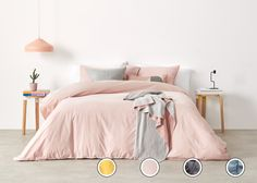 Alexia 100% Stonewashed Cotton King Bed Set, Pale Blush UK from Made.com. Pink. NEW Express delivery. You know that favourite pair of pyjamas you've..