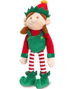 Large Girl Santas Elf Soft Toy Keel Toys Christmas