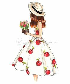 "LINE BOTWIN ""Girly illustrations"" #chic #fashion #girly #illustration"