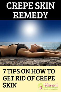 Sagging Skin Remedies - Crepe Skin Remedy - 7 Tips on How To Get Rid Of Crepe Skin. Wondering what you need to do to get rid of it? Crepy Skin, Oily Skin, Face Skin, Skin Toner, Sagging Skin, Younger Looking Skin, Younger Skin, Skin Tightening, Skin Firming