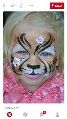 s mink - Face Care Ideas Tiger Face Paints, Clown Face Paint, Face Paint Makeup, Face Painting Images, Face Painting Designs, Clown Faces, Kids Makeup, Animal Faces, Cat Face