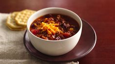 Take 20 minutes in the morning to start hot and hearty chili simmering in a slow cooker.