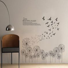 Rock-A-Bye WHITE Branches wall stickers MURAL 38 decals nursery birds tree hush