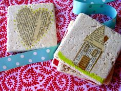 easy and cheap collage coasters