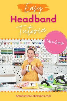 Are you ready for the perfect weekend craft that will make any top knot bun look uptown in less than 2 seconds? In this easy DIY top knot headband tutorial, I will show you how to create this trendy accessory that you or a little girl will love wearing! Headband Tutorial, Headband Pattern, Knot Headband, Knot Bun, Top Knot, Weekend Crafts, Diy Tops, Fabric Scissors, Creative Skills