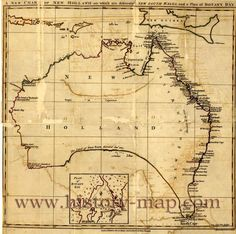 chart of New Holland on which are delineated New South Wales, and a plan for Botany Bay. It was made in 1767.